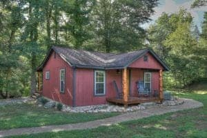 The Flint Rock Cabin in the Great Smoky Mountains.