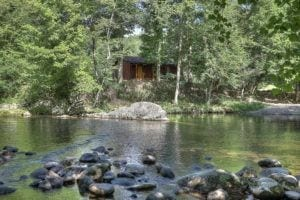 The Flint Rock Cabin on the Little Pigeon River in the Smoky Mountains.
