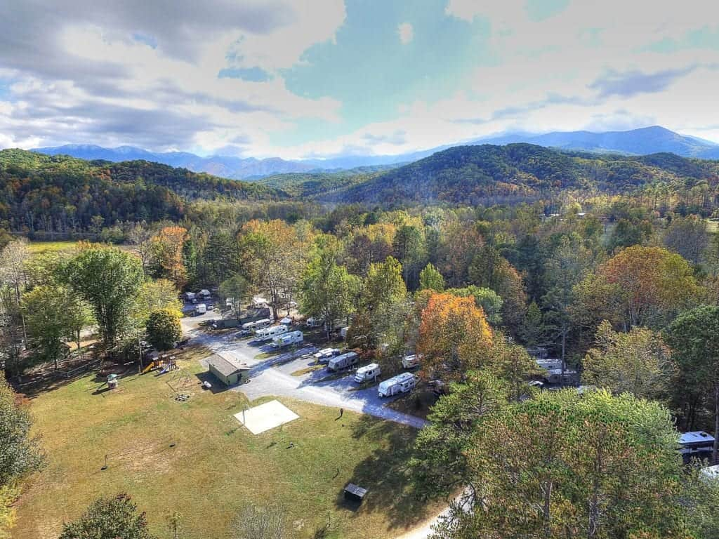 Greenbrier campground near Gatlinburg Tennessee