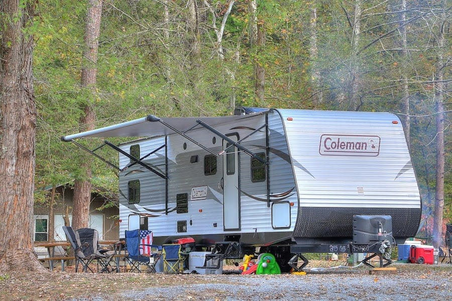 RV camping in the Smoky Mountains
