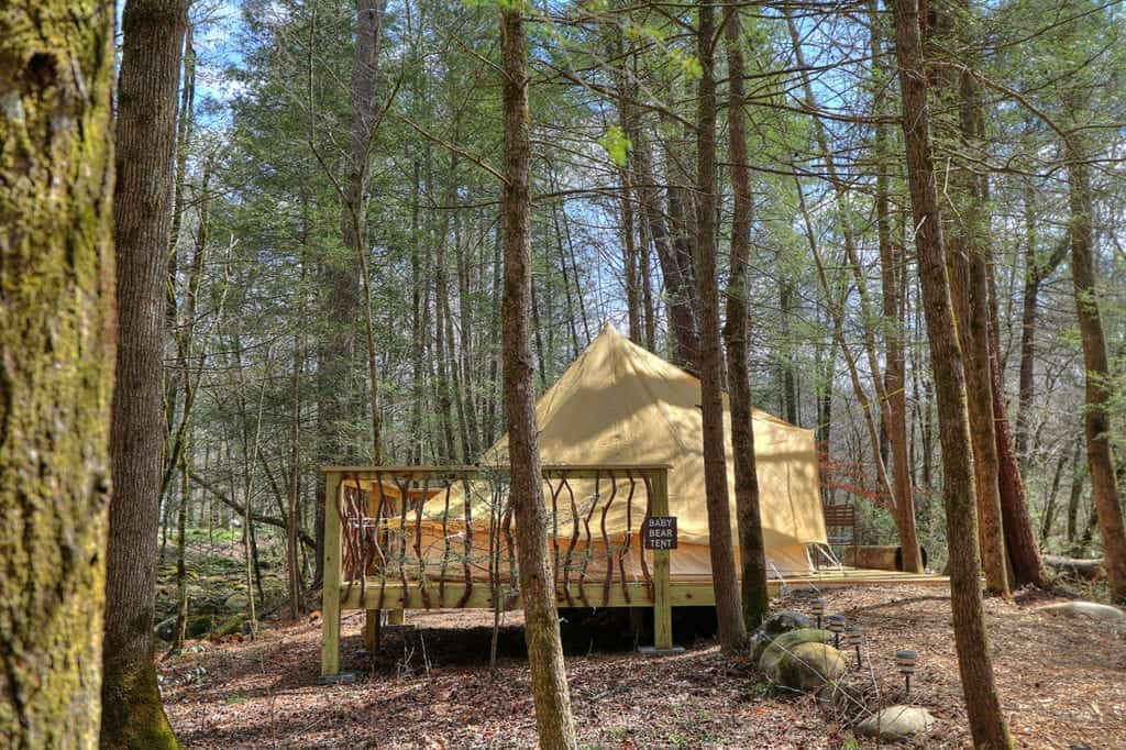Bell Tents And Tipi Tents At Greenbrier Campground Near
