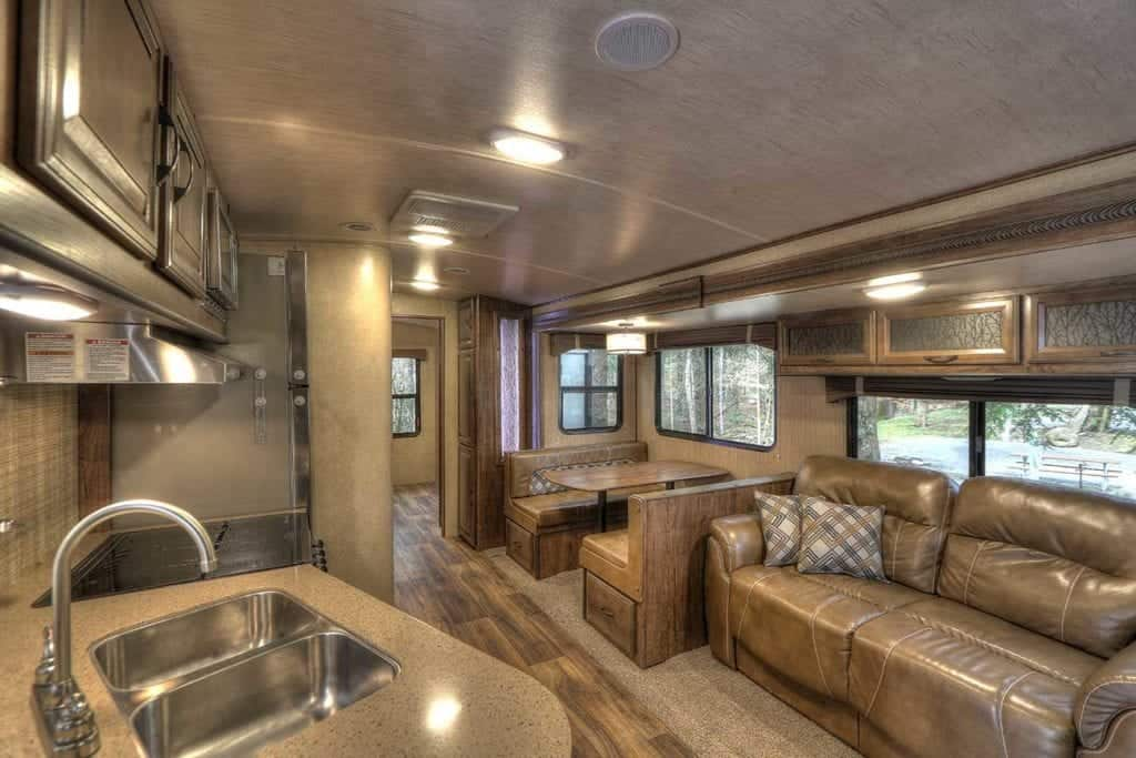 inside an rv in the smoky mountains