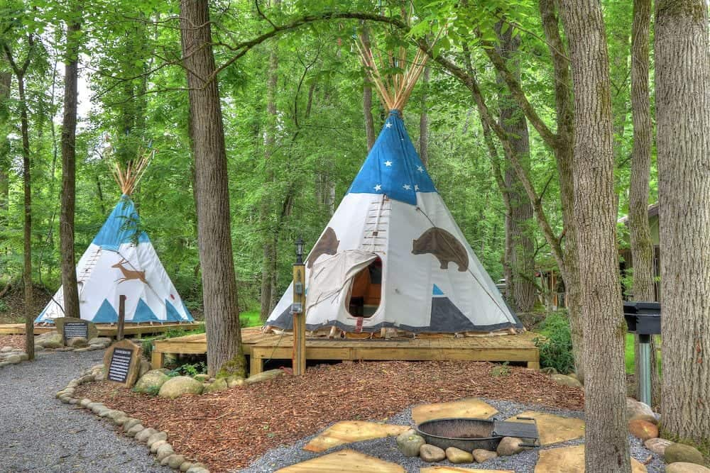 tipi village at Greenbrier