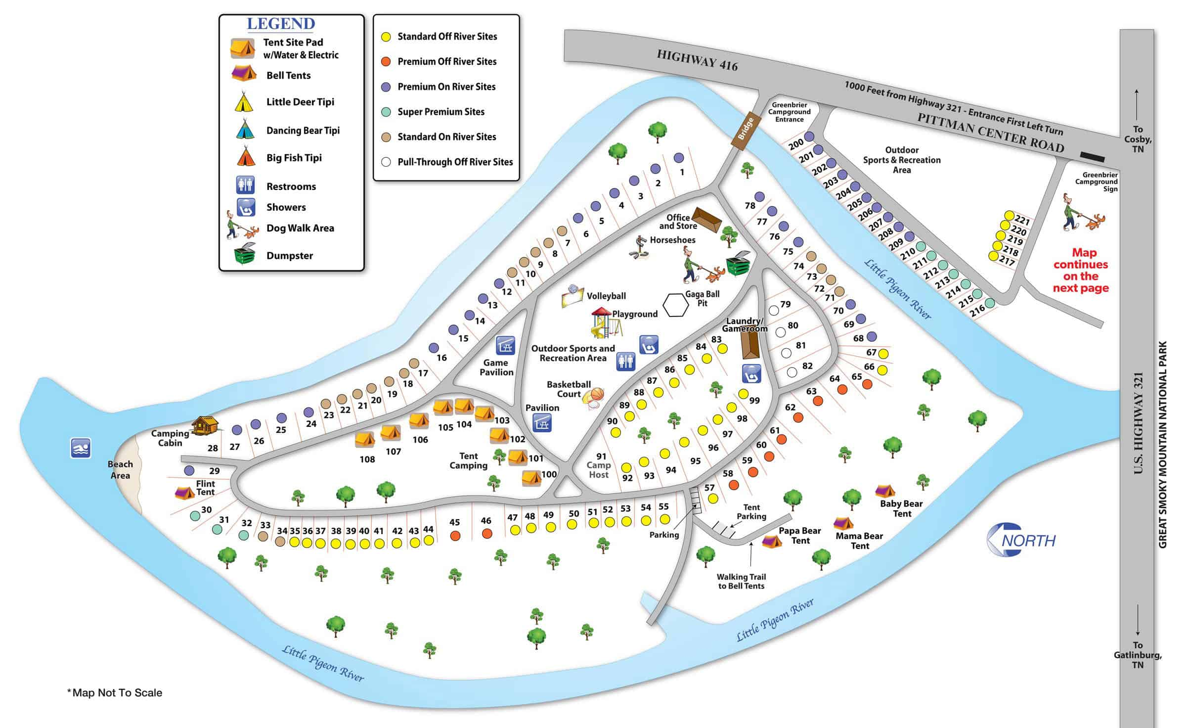 Greenbrier Campground map