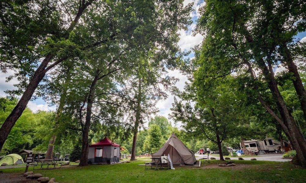 campground in the smoky mountains greenbrier